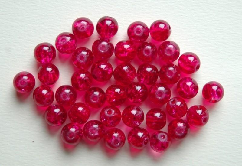 Crackles in honeysuckle - diep donkerrose-rood 8 mm (CR-028-PH)