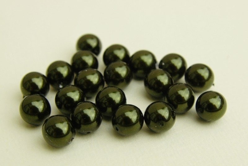 Donkergroene parels 8 mm (P-004-CB)