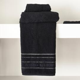 RM Elegant black Towel 100x50 Riviera Maison 466970
