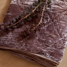 Elegant Boutique Silk Throw mauve 180x130 Riviera Maison 464240