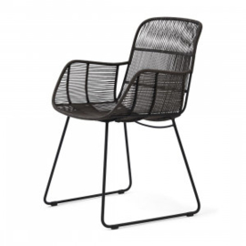 Hartford Outdoor Lounge Chair Espresso Lava Riviera Maison 448670