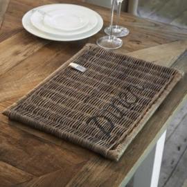 Rustic Rattan Placemat Diner black Riviera Maison 758700
