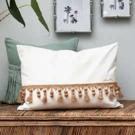 Botanical Beads PillowCover wh 65x45 Riviera Maison 445290