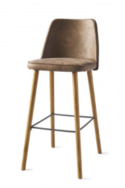 Vegas Bar Stool, pellini, coffee Riviera Maison 4260001