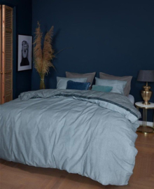 DE Riviera Maison dekbedovertrek Walton Blue 200x200 (duitse maat!!)