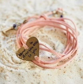 Home is.. Bracelet pink Riviera Maison 301860