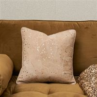 Sparkle Spot Leather P.C. gld 40x40 Riviera Maison 434270