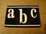 Losse letters A,B,C