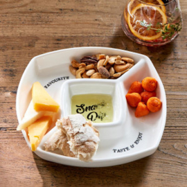 Snack & Dip Plate Riviera Maison 434970