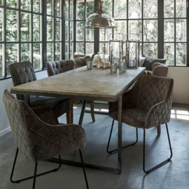 Frisco Drive Dining Armchair, velvet, olive Riviera Maison 4184001