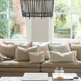 Continental Sofa 2,5 Seater, oxford weave, flanders flax