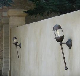 Tors Buiten/wandlamp in koper Frezoli