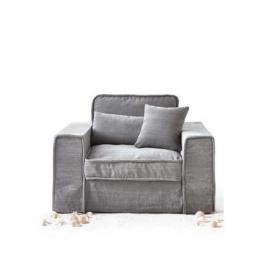 Metropolis Love Seat, washed cotton Grey 3659002