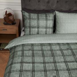 Riviera Maison dekbedovertrek Hawick green 240x200/220