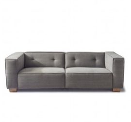 Hampton Heights Sofa 3,5 seater, washed cotton, grey,Riviera Maison,3948003