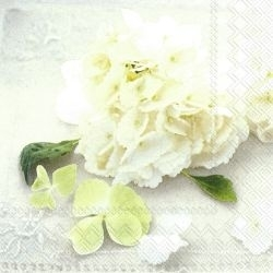 Lunch-Servietten WHITE HORTENSIA