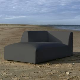 Formentera Outdoor Chaise Longue Left Anthracite Riviera maison 6054001