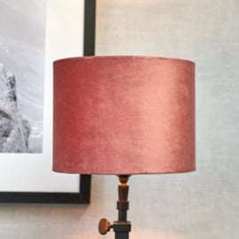 Velvet Cylinder Lampshade dusty pink 15x20 Riviera Maison 437120