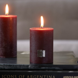 Rustic Candle burgundy 7x10 Riviera Maison 467340