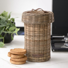 Rustic Rattan Biscuit Barrel Riviera Maison 465390