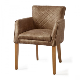 Waverly Dining Armchair, pellini, coffee Riviera Maison 3344007