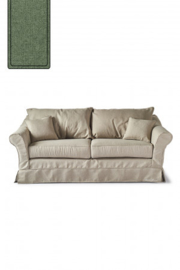 Bond Street Sofa 2.5 Seater, oxford weave, forest green Riviera Maison 4384003