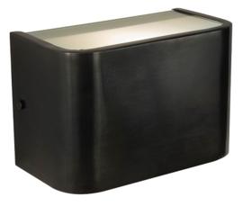 Vanno Buiten/wandlamp in donkerbruin zwarte finish Frezoli