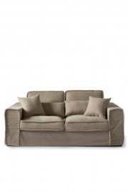 Metropolis Sofa 2,5 seater, washed cotton, natural Riviera Maison 3658001