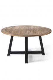 Canyamel Dining Table 140 cm diameter, black legs Riviera Maison 408590