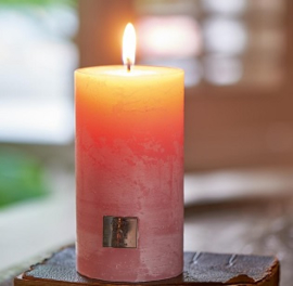 Rustic pink Candle 7 x 13 Riviera Maison 316120