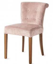 Meadow Dining Chair, velvet, pink Riviera Maison 4058007