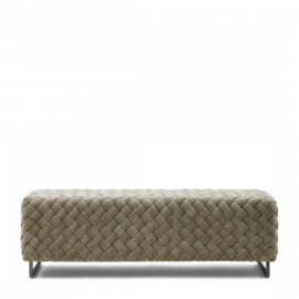 Room 48 Bench, fine tweed, pebbles Riviera Maison 4999001