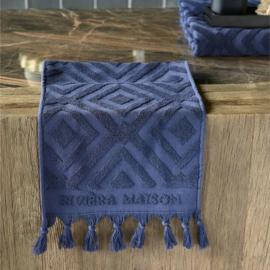 RM Chic Guest Towel Dark blue 50x30 Riviera Maison 495440