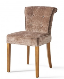 Meadow Dining Chair, velvet, dolphin, Riviera Maison 4058004