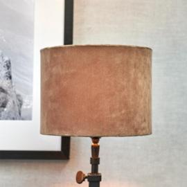 Velvet Cylinder Lampshade sand 15x20 Riviera Maison 437110