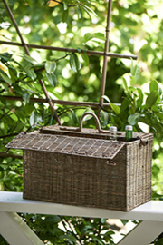 Rustic Rattan Going to the Park Basket