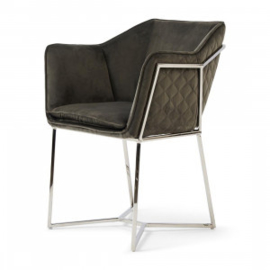 Reynolds Dining Armchair, velvet, grey RM 4716001