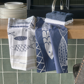 The Seafood Club Tea Towel 2 pieces Riviera Maison 476670