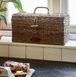 Rustic Rattan Holiday Breadbox Riviera Maison 411680