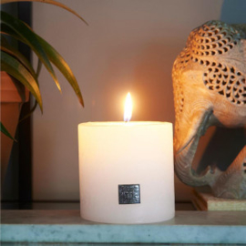 Rustic Candle frosted white 10x10 Riviera Maison 416630