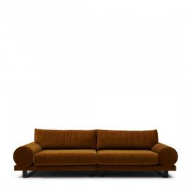 Collins Sofa 3,5 Seater, velvet, golden brown Riviera Maison 5059001