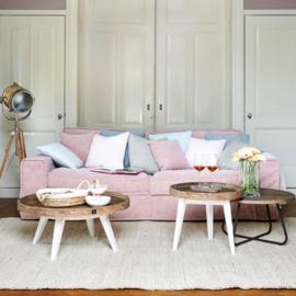 Metropolis Sofa 3,5 seater, velvet, blossom Riviera Maison 4028007