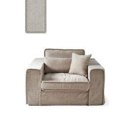 Metropolis Love Seat, washed cotton, ash grey Riviera Maison 3659007