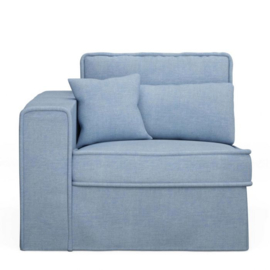 Metropolis Corner Arm Left, washed cotton, ice blue 3720009