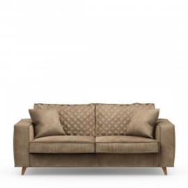Kendall Sofa 2,5 Seater, velvet, golden beige Riviera Maison 4218008