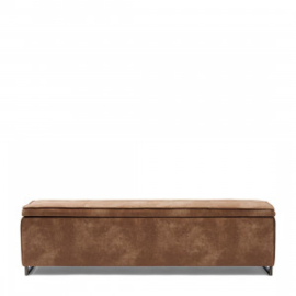 Club 48 Bench With Lid, pellini, camel Riviera Maison 4683001