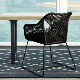 Puerto Rico Outdoor Dining Armchair With Cushion Riviera Maison 474020