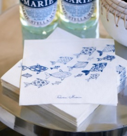 Paper Napkin Happy Fish Riviera Maison 408040