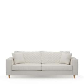 Kendall Sofa 3,5 Seater, oxford weave, alaskan white Riviera Maison 4345001