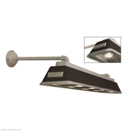 Bizz small matt zwart Gegoten aluminium wandlamp met wandsteunen.